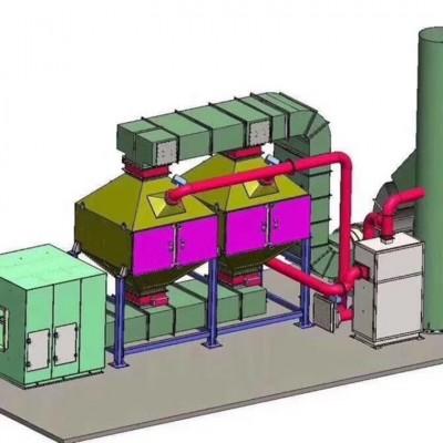 有机废气处理催化燃烧 50000风量整套设备价格